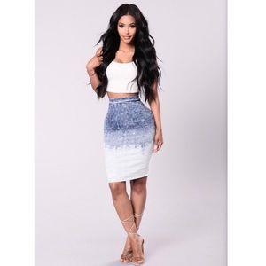 Nevermind Skirt - Medium Wash (NWOT)